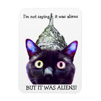 Aliens! Cat magnet Vinyl Magnet