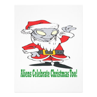 Aliens Celebrate Christmas Too Personalized Flyer