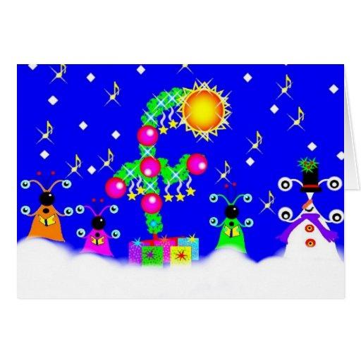 Aliens Christmas Choir Card
