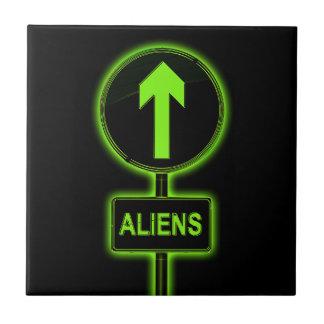 Aliens concept. ceramic tile