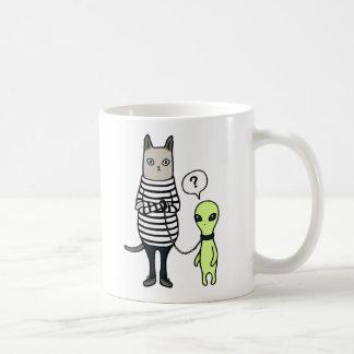 Aliens Conquer Us, Cats Conquer Aliens Mugs