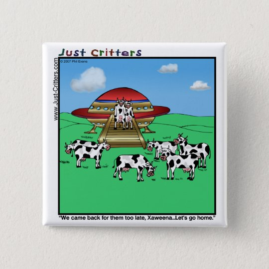 Aliens Cows Button