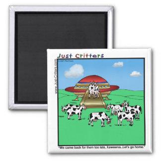 Aliens Cows Magnet