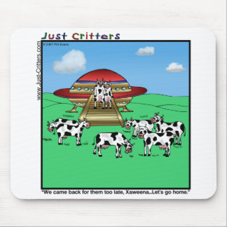 Aliens Cows Mouse Pad