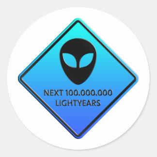 Aliens de 100 000 000 Lightyears next Pegatinas Redondas