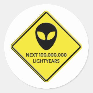 Aliens de 100 000 000 Lightyears next Etiquetas Redondas