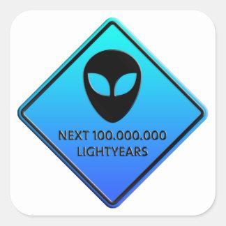 Aliens de 100 000 000 Lightyears next Calcomanías Cuadradass Personalizadas