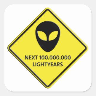 Aliens de 100 000 000 Lightyears next Calcomania Cuadradas Personalizada