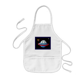 Aliens Earth or Bust! Kids' Apron