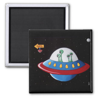 Aliens Earth or Bust! Refrigerator Magnets