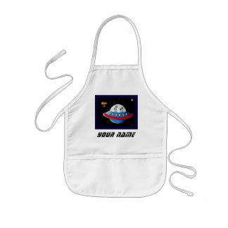 Aliens Earth or Bust!   Personalize Kids' Apron
