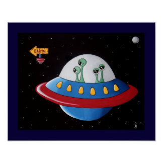Aliens Earth or Bust! Poster