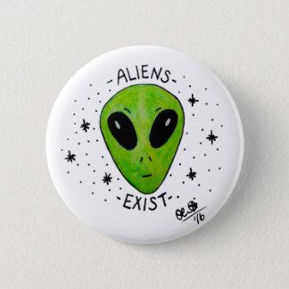 Aliens Exist Badge Button