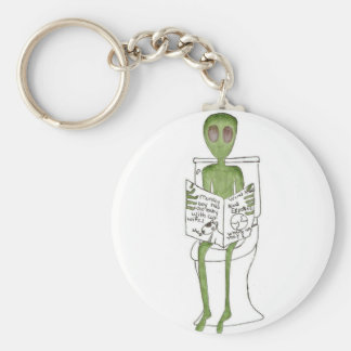 Aliens Exposed Basic Round Button Keychain