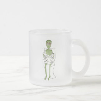 Aliens Exposed Frosted Glass Coffee Mug