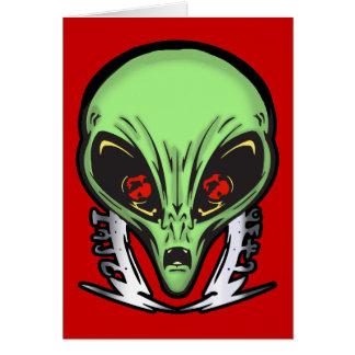 Aliens Face Of Terror Card
