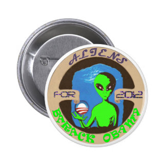 Aliens for Obama 2 Inch Round Button