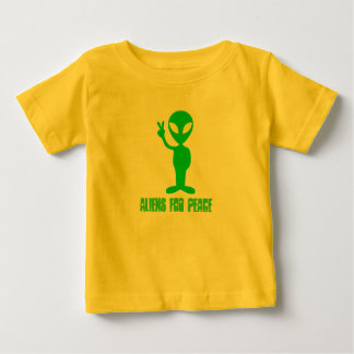 Aliens For Peace Baby T-Shirt