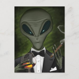 Aliens Got Class Postcard V1 postcard