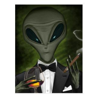 Aliens Got Class Postcard V1