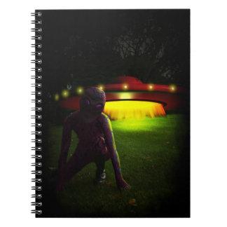 Aliens Have Landed Spiral Note Books