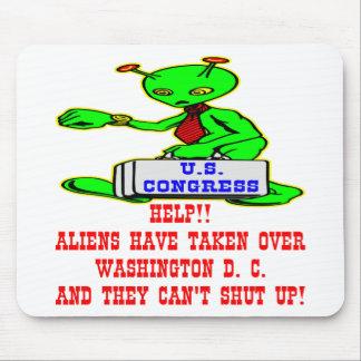 Aliens Have Taken Over Washington DC Mouse Pad