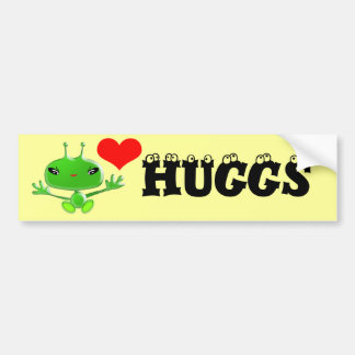 Aliens Huggs Bumper Sticker