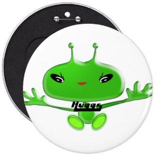 Aliens Huggs 6 Inch Round Button