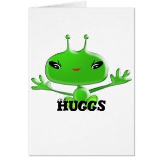 Aliens Huggs Card