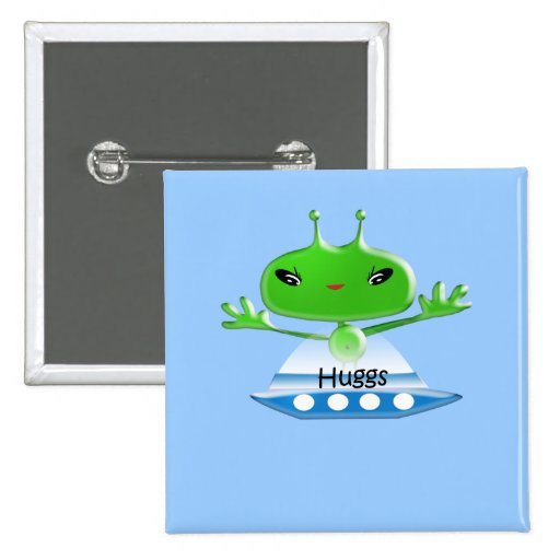 Aliens Huggs Gifts & Promotional Products T-shirts Button
