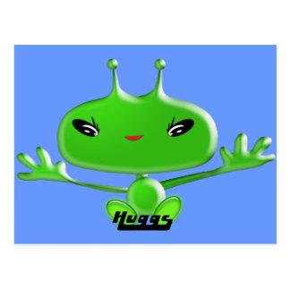 Aliens Huggs Postcard