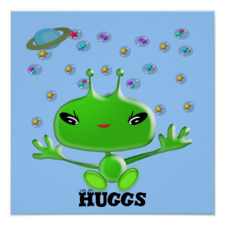 Aliens Huggs Poster