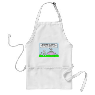 aliens illegal racial profiling saucer adult apron