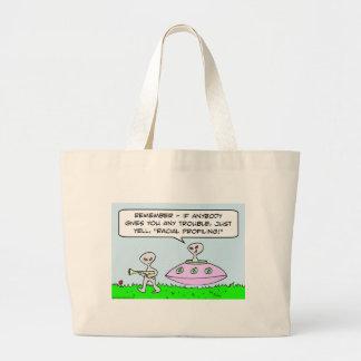 aliens illegal racial profiling saucer bags
