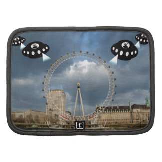 Aliens invade London attacking London Eye Folio Planners