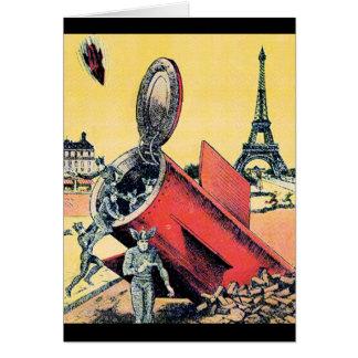 Aliens Invade Paris Greeting Card
