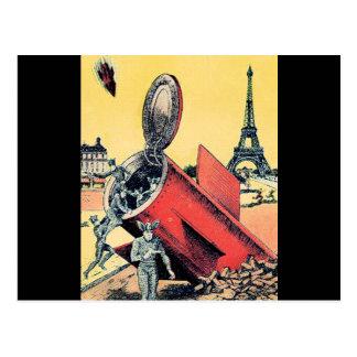 Aliens Invade Paris Post Card