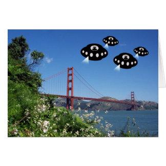 Aliens invade San Francisco Greeting Card