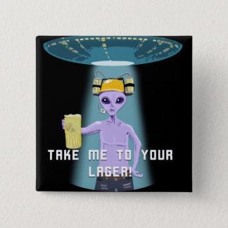 Aliens Love Beer Too! Button
