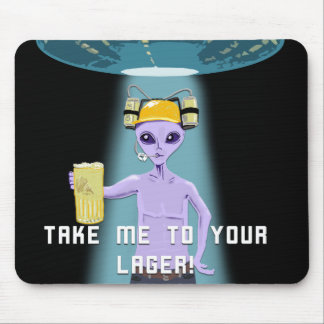Aliens Love Beer Too! Mouse Pad