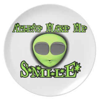 Aliens Make Me Smile Plate