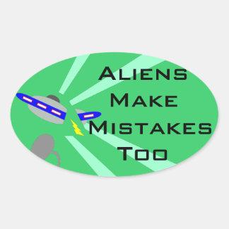 Aliens Make Mistakes Sticker