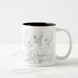 Aliens Monsters from Outer Space Mug by Al Rio