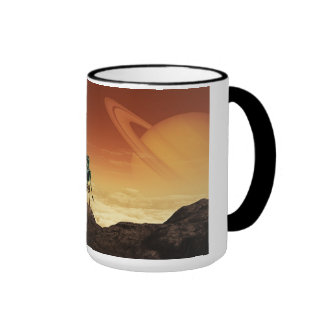 Aliens Ringer Coffee Mug