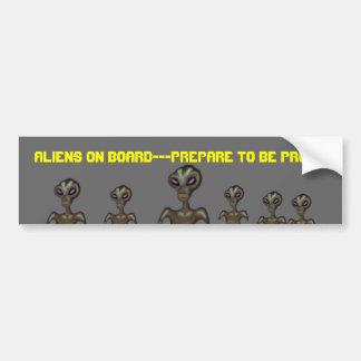 Aliens On Board Bumper Sticker