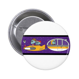 Aliens On Vacation 2 Inch Round Button