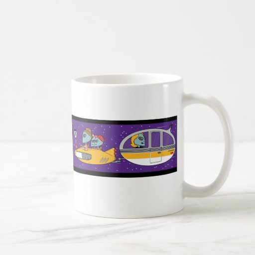 Aliens On Vacation Classic White Coffee Mug