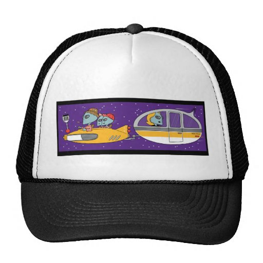 Aliens On Vacation Mesh Hats
