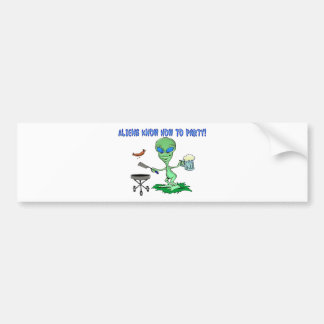 Aliens Party Bumper Sticker