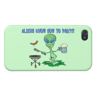Aliens Party iPhone 4/4S Cover